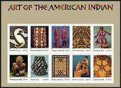 view 37c Art Of The American Indian pane of ten digital asset number 1