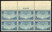 view 25c Transpacific China Clipper top plate block of six digital asset number 1