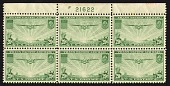 view 20c Transpacific China Clipper top plate block of six digital asset number 1