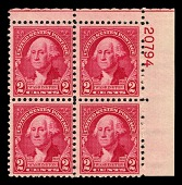 view 2c Washington Bicentennial plate block of four digital asset number 1