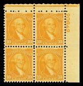 view 10c Washington Bicentennial plate block of four digital asset number 1