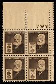 view 10c American Inventors Alexander Graham Bell plate block of four digital asset number 1