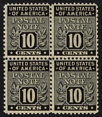 view 10c Postal Note block of four digital asset number 1