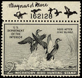 view $2 Gadwall Ducks revenue stamp remarque single digital asset number 1