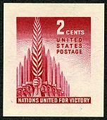 view 2c Allied Nations small die proof digital asset number 1