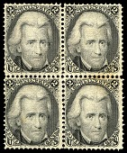 view 2c Andrew Jackson F Grill block of four digital asset number 1