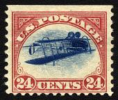 view 24c Curtiss Jenny invert single digital asset number 1