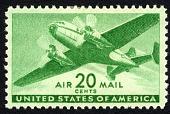 view 20c Twin-motored transport plane single digital asset number 1