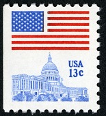 view 13c Flag Over the Capitol single digital asset number 1