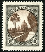 view 30c Vatican Gardens single digital asset number 1