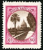view 80c Vatican Gardens single digital asset number 1