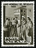 """view 10 lire """"St. Peter Giving Alms to the Poor"""" single digital asset number 1"""