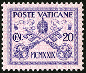 view 20c Papal Arms single digital asset number 1