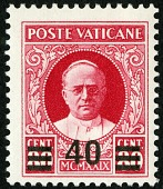 view 40c on 80c Pope Pius XI single digital asset number 1