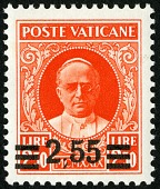 view 2.55 lire on 2.50 lire Pope Pius XI single digital asset number 1