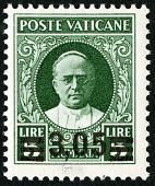 view 3.05 lire on 5 lire Pope Pius XI single digital asset number 1