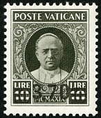 view 3.70 lire on 10 lire Pope Pius XI single digital asset number 1