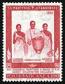 view 100 lire Uganda Martyrs single digital asset number 1