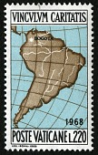 view 220 lire Map of South America single digital asset number 1