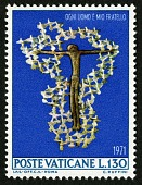 view 130 lire Crucified Christ Surrounded by Doves single digital asset number 1