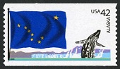 view 42c Alaska Flag and Humpback Whale coil single digital asset number 1