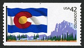 view 42c Colorado Flag and Mountain coil single digital asset number 1