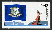 view 42c Connecticut Flag, Sailboats and Buoy coil single digital asset number 1