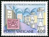 view 400 lire Philatelic Department, Vatican City single digital asset number 1