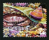 view 44c Pacific Rock Crab, Jeweled Top Snail single digital asset number 1