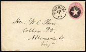 view 3c Washington with Richmond, VA negative star in circle on stationery digital asset number 1