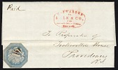 view 6c Hale & Co. local stamp on cover digital asset number 1