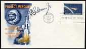 view John Glenn signature on Project Mercury first day cover digital asset number 1