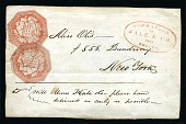 view 6c red Hale & Co. local stamps on cover digital asset number 1