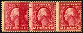 view 2c Washington partial double impression strip of three digital asset number 1