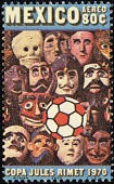 view 80c Soccer Ball and Mexican Masks single digital asset number 1