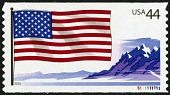 view 44c American Flag and Mountains single digital asset number 1