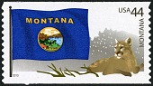 view 44c Montana Flag and Mountain Lion single digital asset number 1