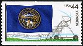 view 44c Nebraska Flag and Central-pivot Irrigation System single digital asset number 1
