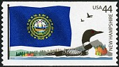 view 44c New Hampshire Flag and Loon single digital asset number 1