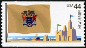 view 44c New Jersey Flag and Sand Castle single digital asset number 1