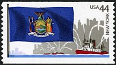 view 44c New York Flag, Fireboats and City Skyline single digital asset number 1