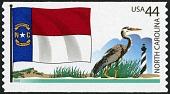 view 44c North Carolina Flag, Great Blue Heron and Cape Hatteras Lighthouse single digital asset number 1