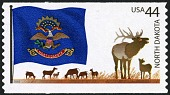 view 44c North Dakota Flag and Elk single digital asset number 1