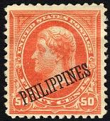 view 50c Philippines overprint single digital asset number 1
