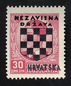 view Overprint on 30d stamp of Yugoslavia single digital asset number 1