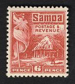 view 6p British Flag and Samoan House single digital asset number 1