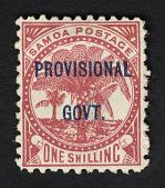 view Overprint on 1sh stamp of Samoan Kingdom single digital asset number 1