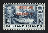 view Overprint on 1sh stamp of Falkland Islands single digital asset number 1