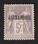 view Overprint on 5fr stamp of France single digital asset number 1