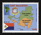 view 164c Flag, Arms, Map of Island and West Indies and Map of South America single digital asset number 1